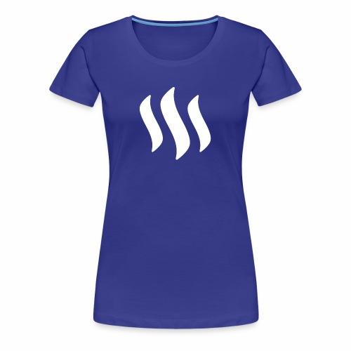 Steemit - White - Women's Premium T-Shirt