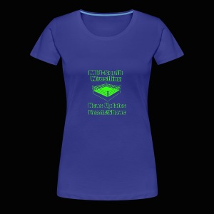 Mid-South Wrestling News Neon/Lime Green - Women's Premium T-Shirt
