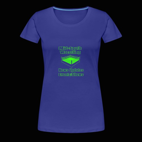 Mid-South Wrestling News Neon/Lime Green - Women's Premium T-Shirt