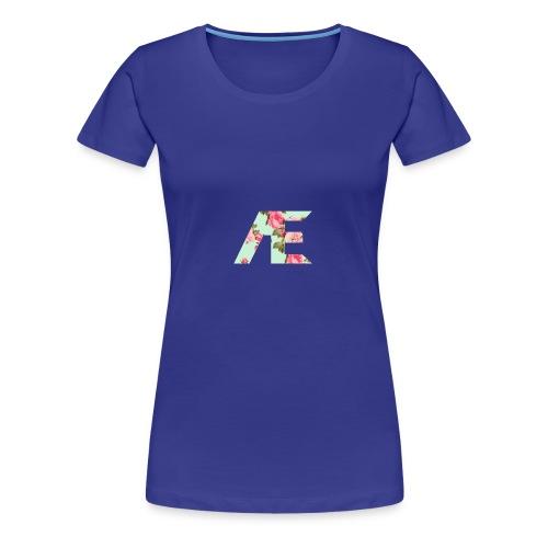 AE Floral design - Women's Premium T-Shirt