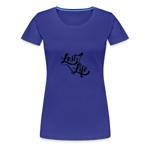 Lost in Life Black on Light logo small - Women's Premium T-Shirt