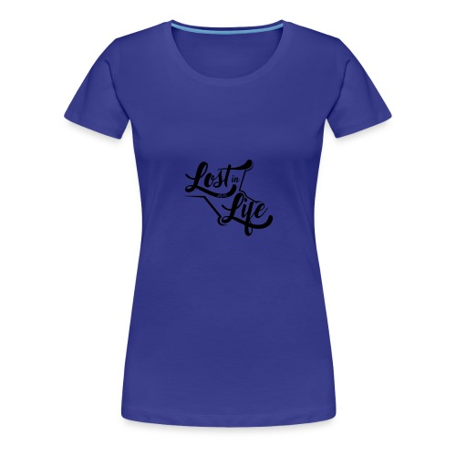 Lost in Life Black on Light logo small - Women's Premium T-Shirt