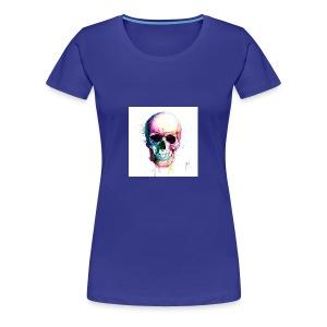 Colourful skull - Women's Premium T-Shirt