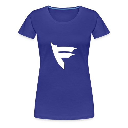 the f white - Women's Premium T-Shirt