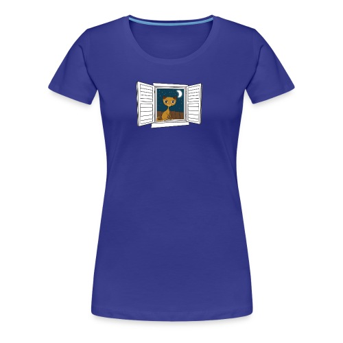 Kitten in the window - Women's Premium T-Shirt