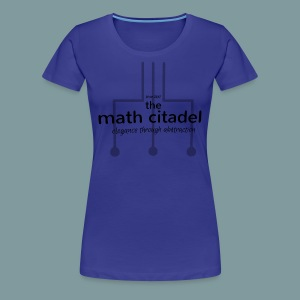 Abstract Math Citadel - Women's Premium T-Shirt
