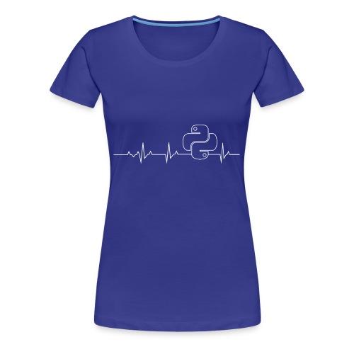 Python Heartbeat T-shirt Hoodie - Women's Premium T-Shirt