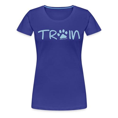 Rescue Dogs 101 Train Paw Print - Women's Premium T-Shirt