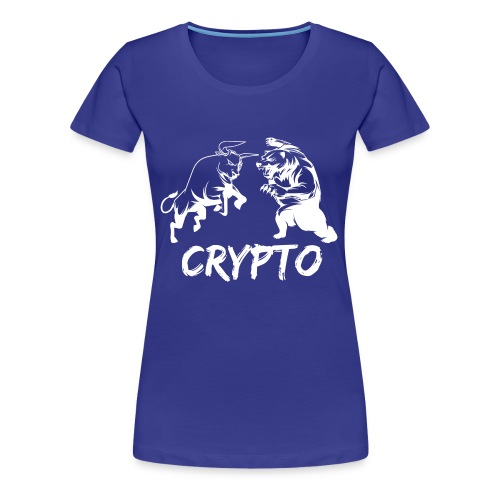CryptoBattle White - Women's Premium T-Shirt