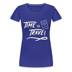 Time to Travel Tshirt - Women's Premium T-Shirt