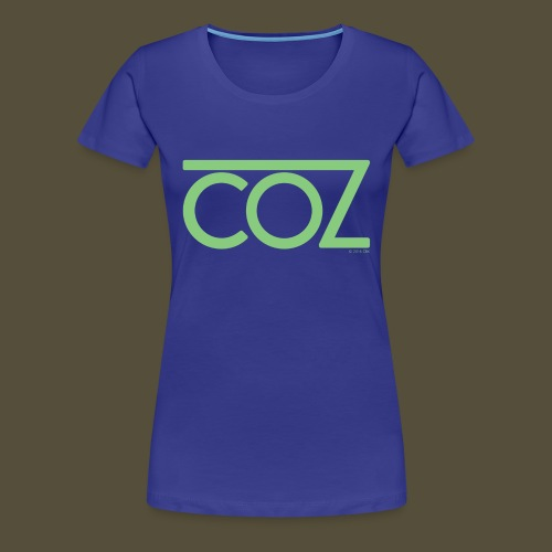 coz_logo_lightgreen - Women's Premium T-Shirt