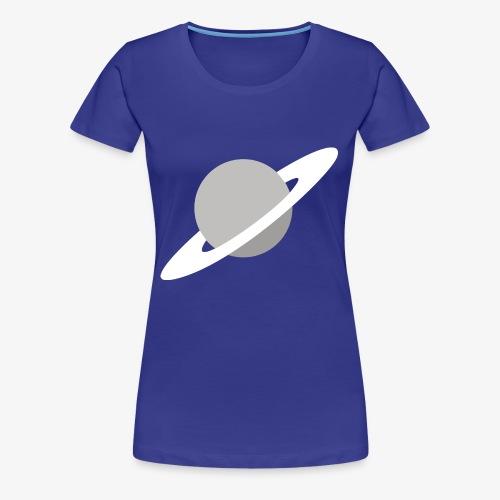Saturn Out Color - Women's Premium T-Shirt