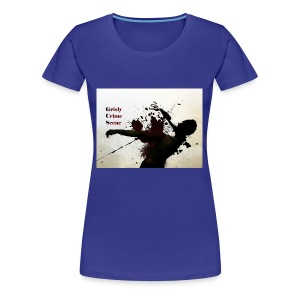 Grisly Crime Scene man shot - Women's Premium T-Shirt