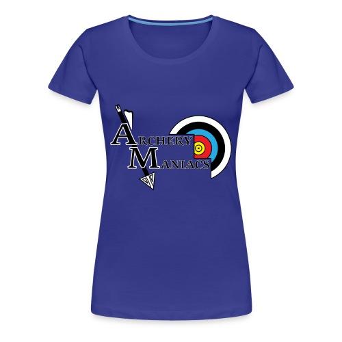 Archery Maniacs White Outline - Women's Premium T-Shirt