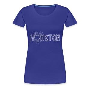 My Heart is With Houston - Women's Premium T-Shirt