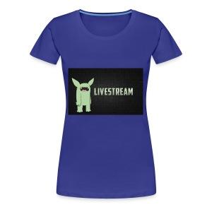 livve stream - Women's Premium T-Shirt