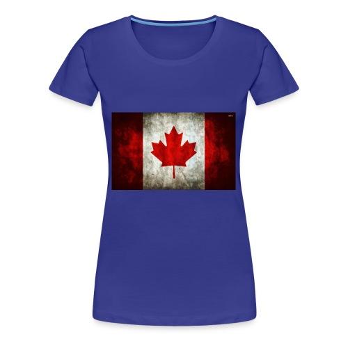 canada flag grunge - Women's Premium T-Shirt
