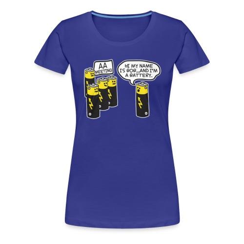 AA BATTERY FUNNY - Women's Premium T-Shirt