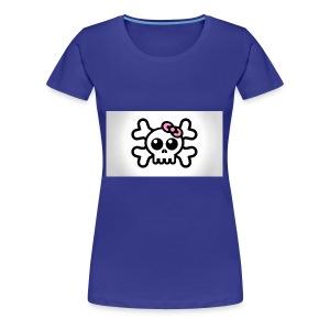 skull bow drawing 85690 1920x1080 - Women's Premium T-Shirt