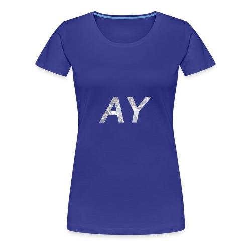 Ay White Diamond - Women's Premium T-Shirt