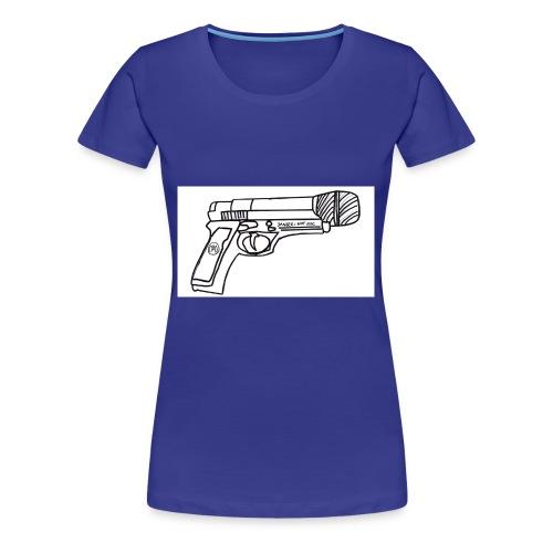 Hot Mic Handgun - Women's Premium T-Shirt