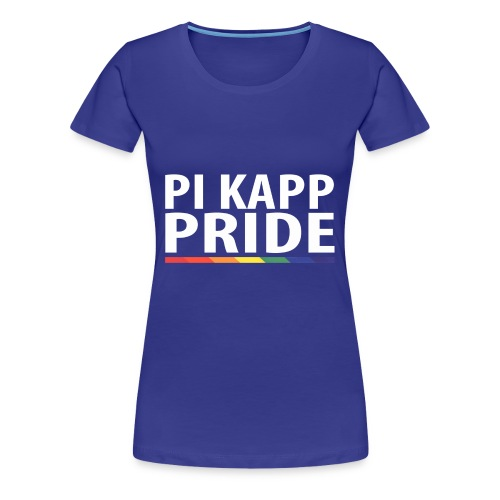PKPride Stacked Design w Rainbow Stripe White Tex - Women's Premium T-Shirt