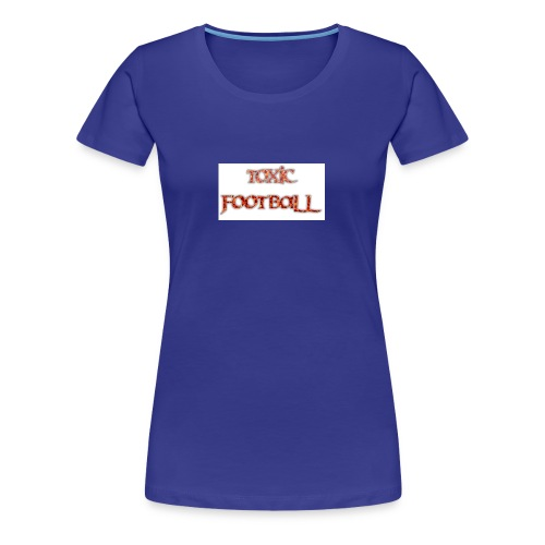 Flaming toxic football - Women's Premium T-Shirt