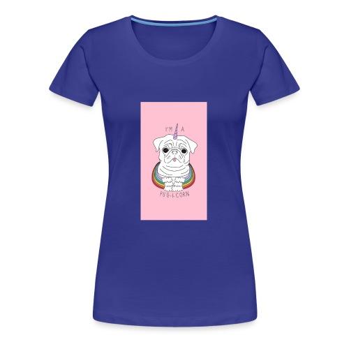 I'm a pug-I-corn - Women's Premium T-Shirt