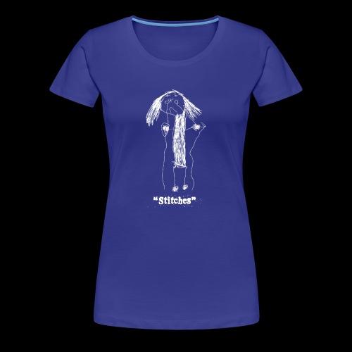 E-Wear: Stitches (in white) - Women's Premium T-Shirt