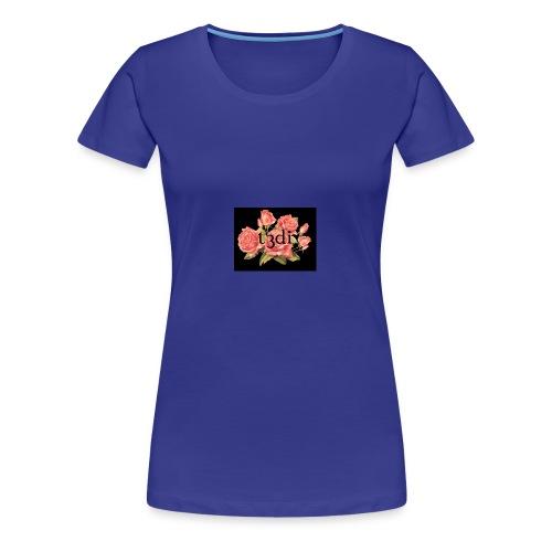 t3di 6aer floral pattern - Women's Premium T-Shirt