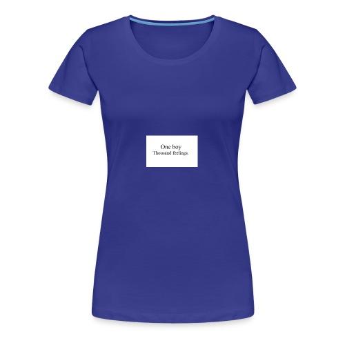One boy - Women's Premium T-Shirt