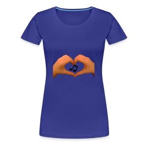 hands of music - Women's Premium T-Shirt