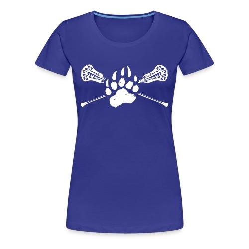 Kodiak Lacrosse Paw Stick 2018 WHITE - Women's Premium T-Shirt
