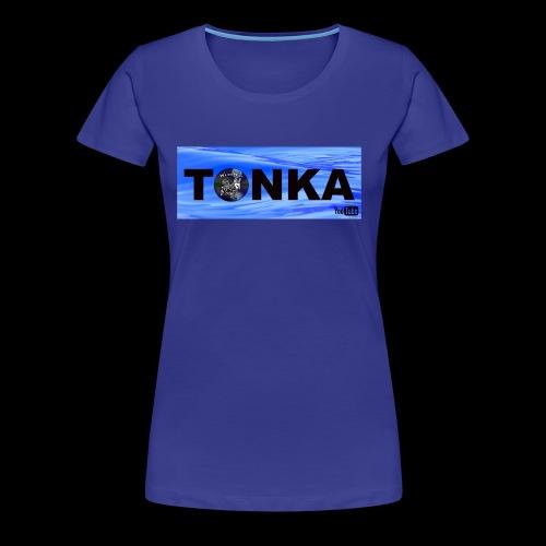 Tonka the WaterWolf in Water - Women's Premium T-Shirt