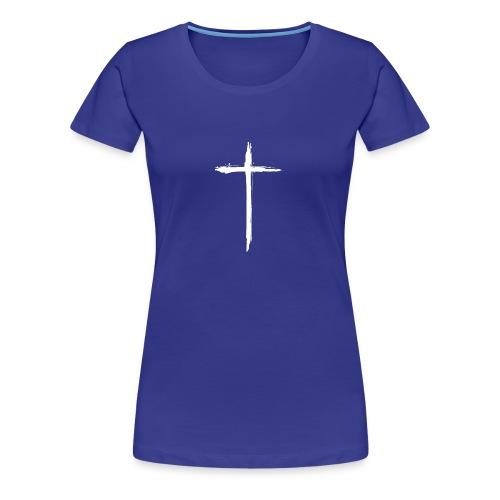 White Cross for Back of Shirt - Women's Premium T-Shirt