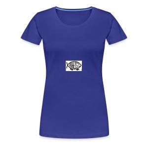 atheist fish web - Women's Premium T-Shirt