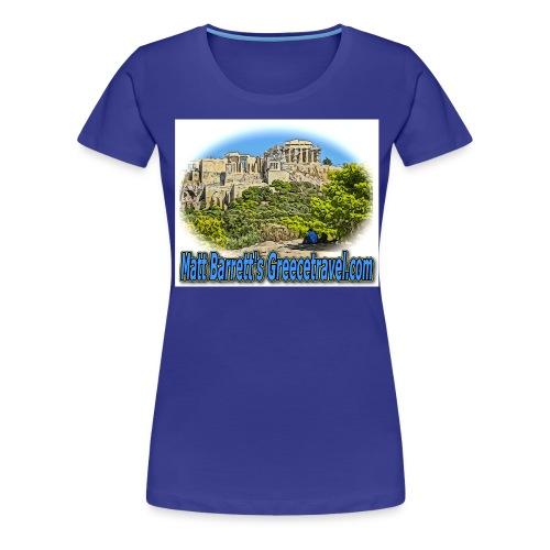 Greecetravel Acropolis Blue jpg - Women's Premium T-Shirt