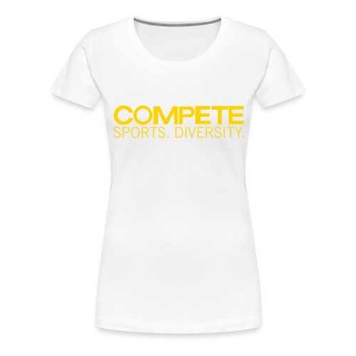 speadshirt compete logo red - Women's Premium T-Shirt