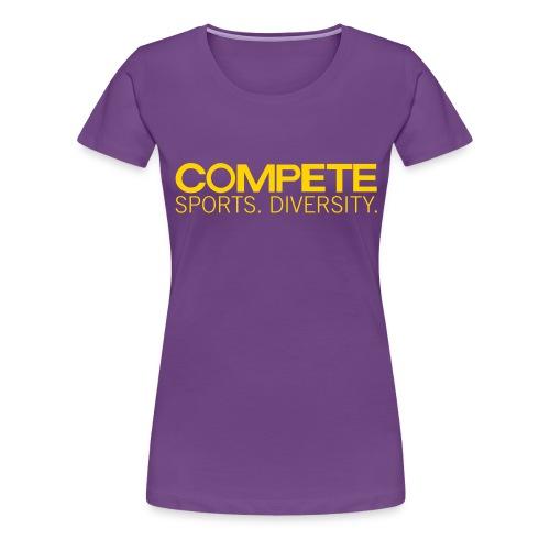 speadshirt compete logo red - Women's Premium T-Shirt