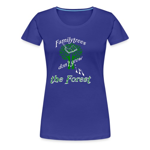 genealogy family tree forest funny birthday gift - Women's Premium T-Shirt