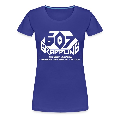 607 Grappling Logo White - Women's Premium T-Shirt