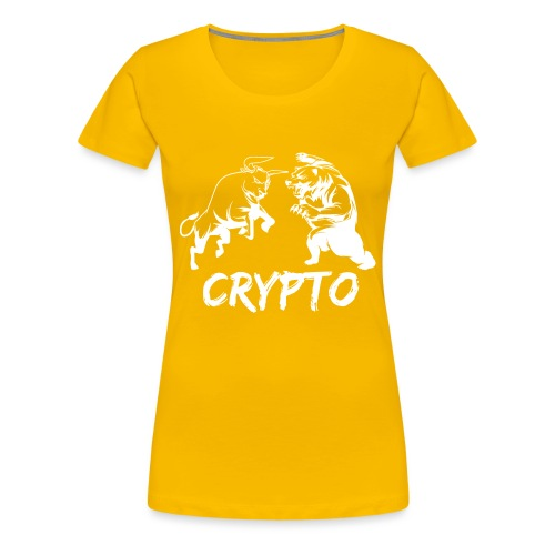 CryptoBattle White - Women's Premium T-Shirt