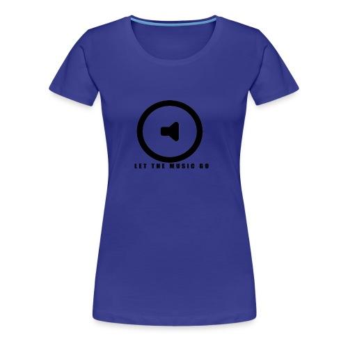 Let the music go - Women's Premium T-Shirt