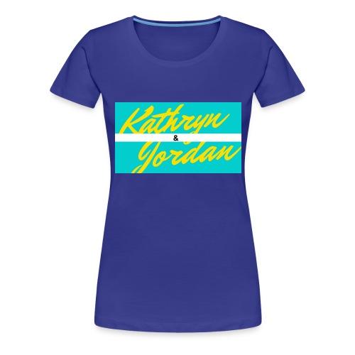 Kathryn and Jordan Logo - Women's Premium T-Shirt