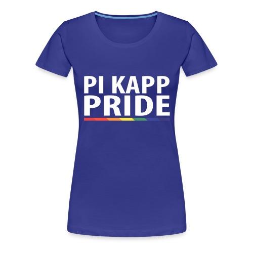 PKPride Stacked Design w Rainbow Stripe White Tex - Women's Premium T-Shirt