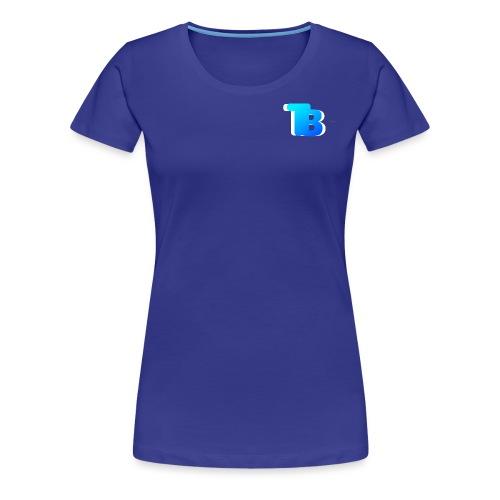 Trublu Overlapping letter Design - Women's Premium T-Shirt