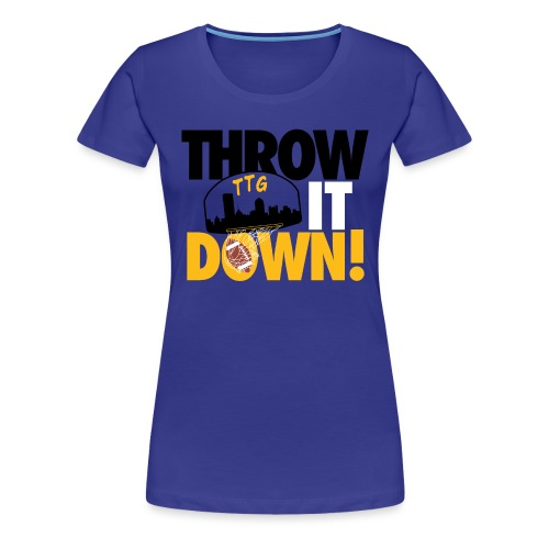 Throw it Down! (Turnover Dunk) - Women's Premium T-Shirt