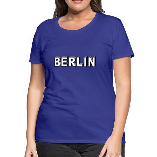 BERLIN Block Letters - Women's Premium T-Shirt