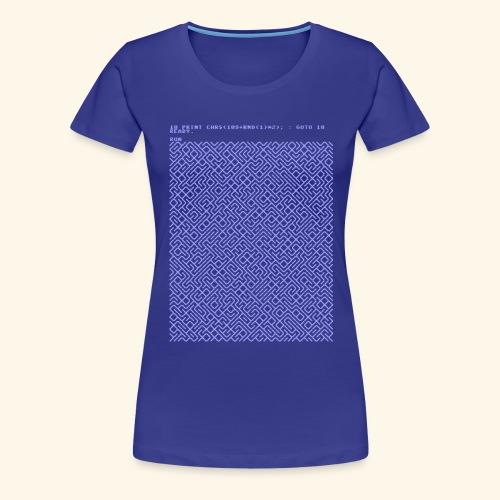 10 PRINT CHR$(205.5 RND(1)); : GOTO 10 - Women's Premium T-Shirt