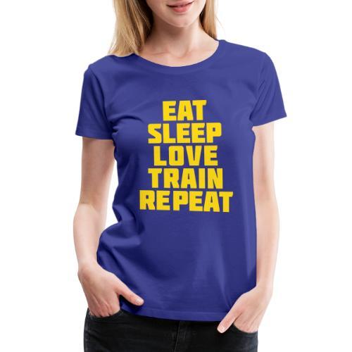 Eat Sleep Gym Motivation - Women's Premium T-Shirt